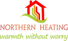 Northern Heating Warmth Without Worry Logo